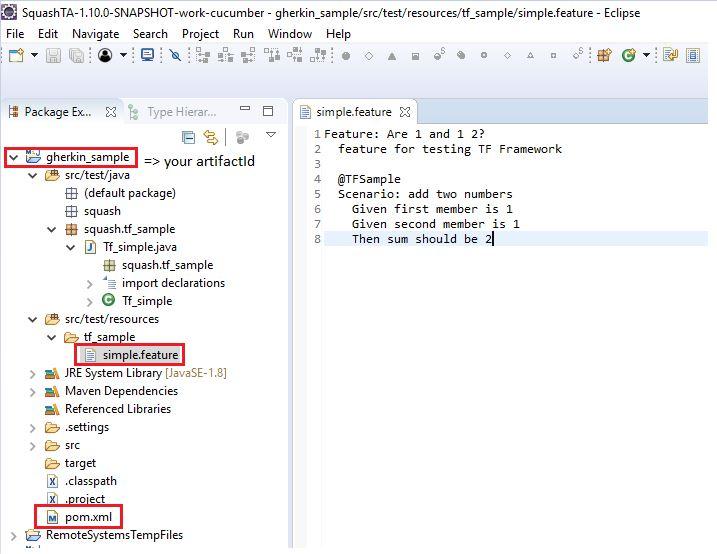 Java project — Squash TF Cucumber Java Runner documentation